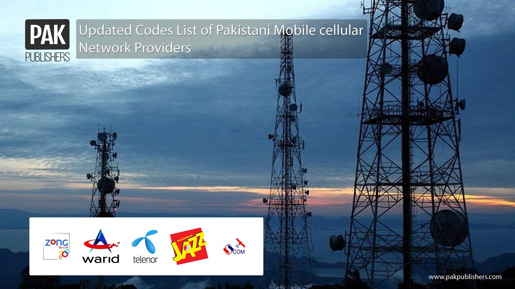 Updated Codes List of Pakistani Mobile cellular Network Providers