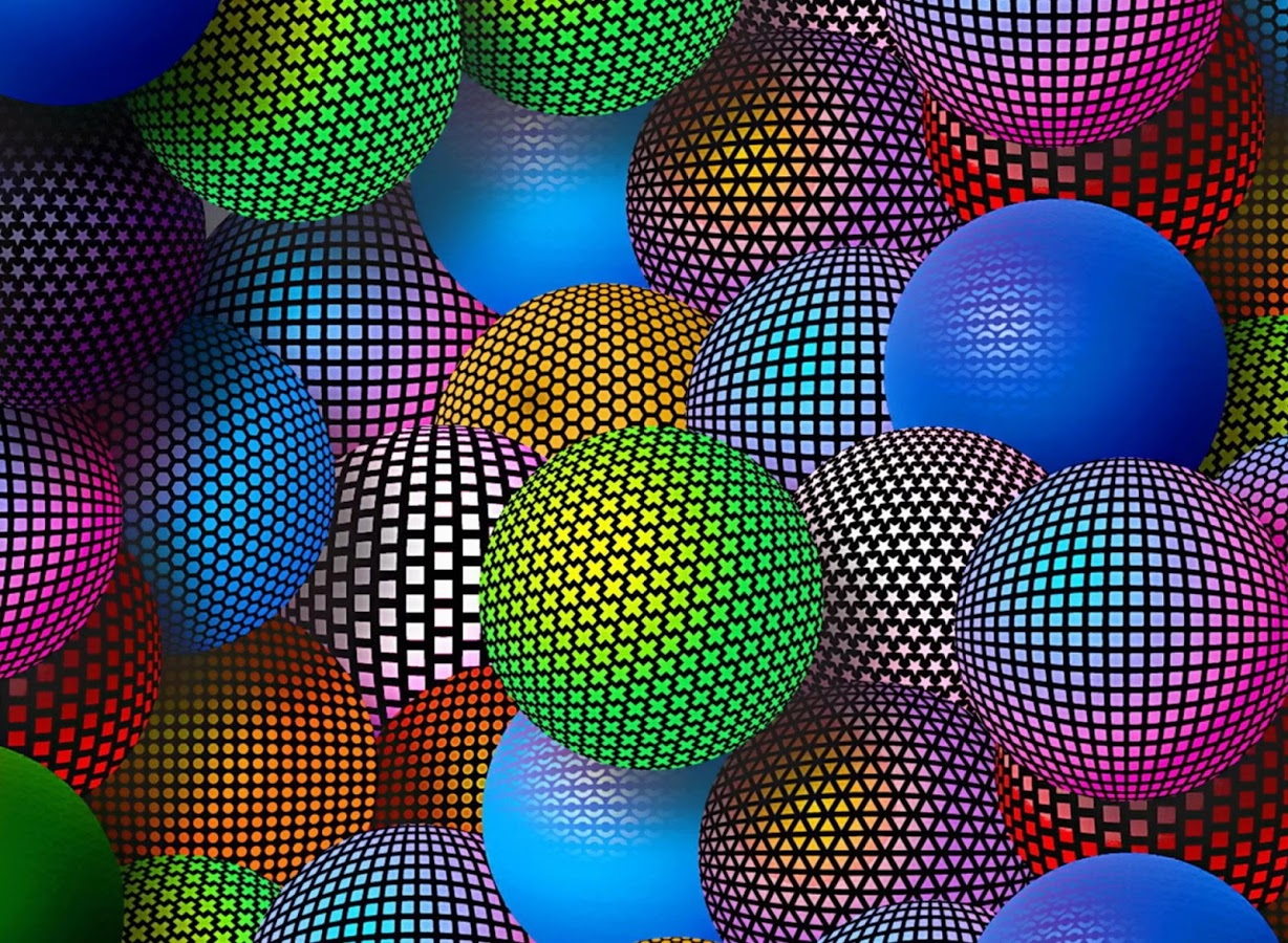 abstract colorful round balls for Desktop