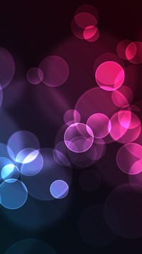 abstract pink red magenta cirle shapes wallpaper