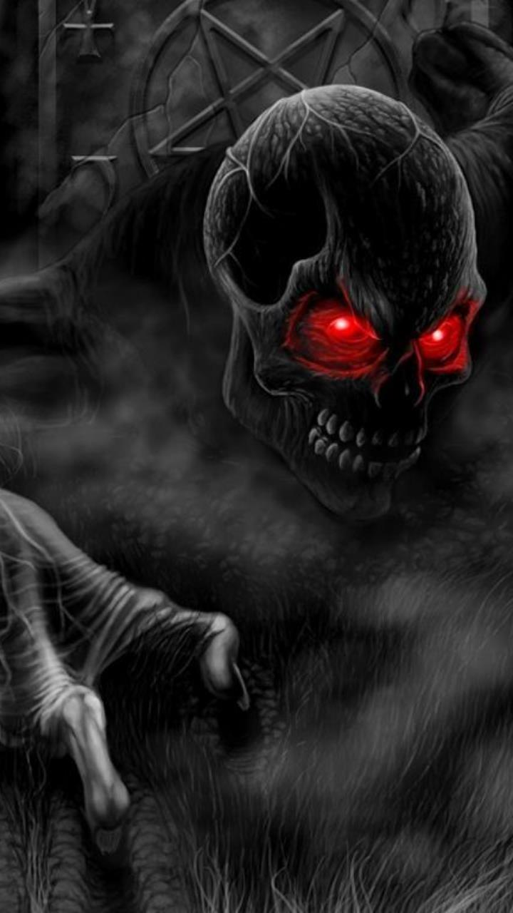 horror sukk with red eyes wallpaper for Mobile Phones