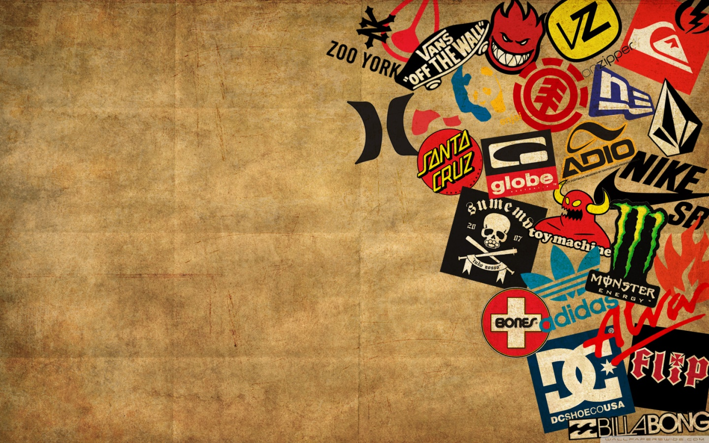 skateboard logos wallpaper for Desktop