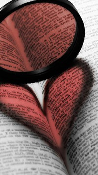 abstract heart on book wallpaper