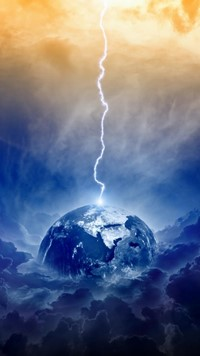 Apocalypse light storm on earth wallpaper