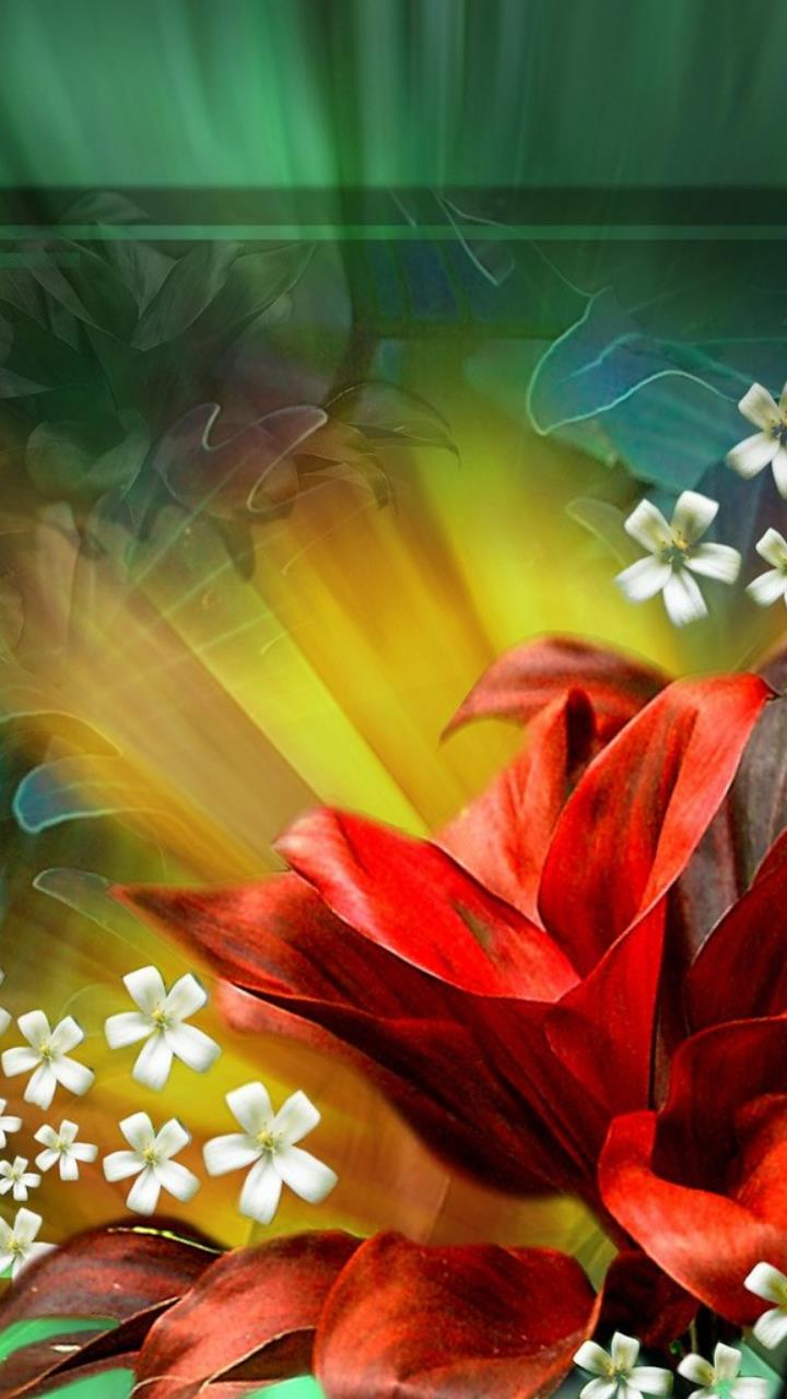 free animated flower desktop wallpaper for Mobile Phones