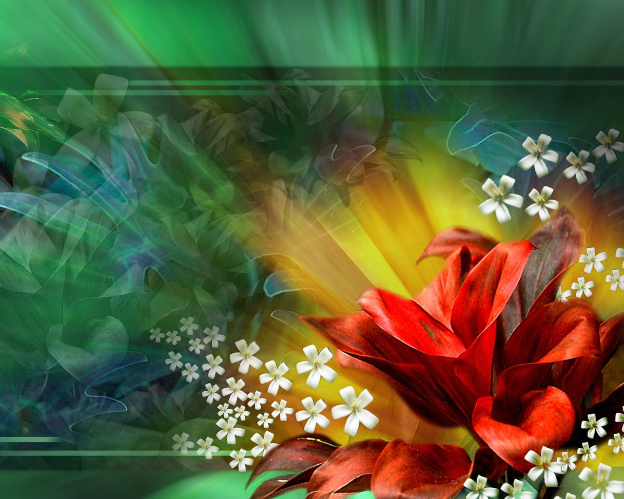 free animated flower desktop wallpaper for Desktop