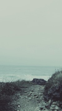 gray sea beach way wallpaper