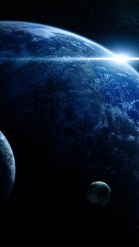 earth like planet in space walllpaper 4k HD