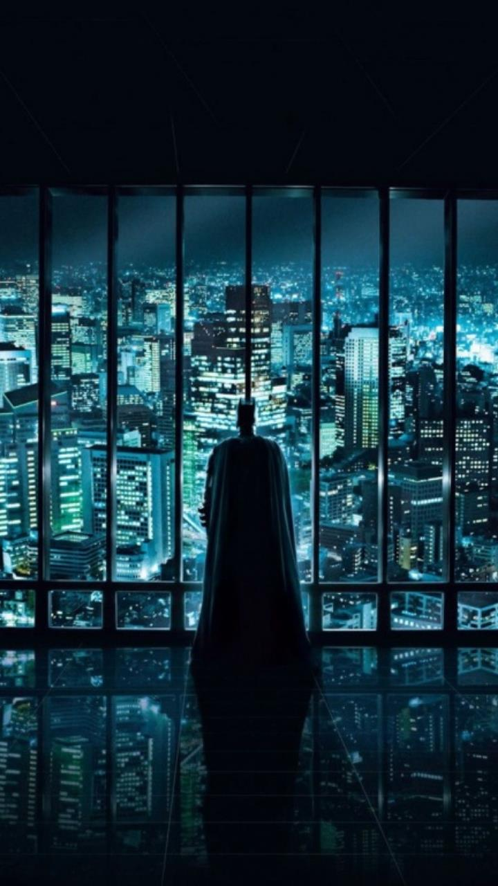 dark knight watching over wallpaper for Mobile Phones