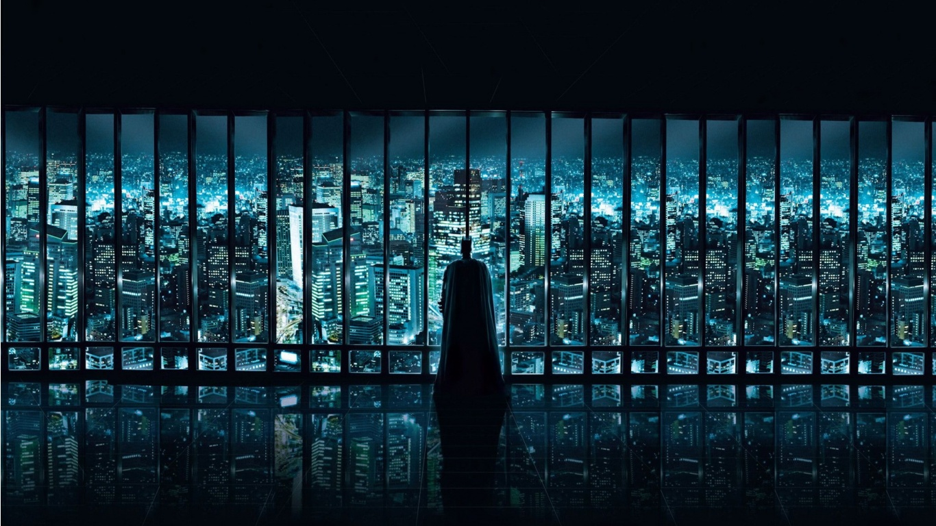 dark knight watching over wallpaper for Desktop