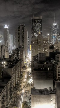 dark newyork city night wallpaper