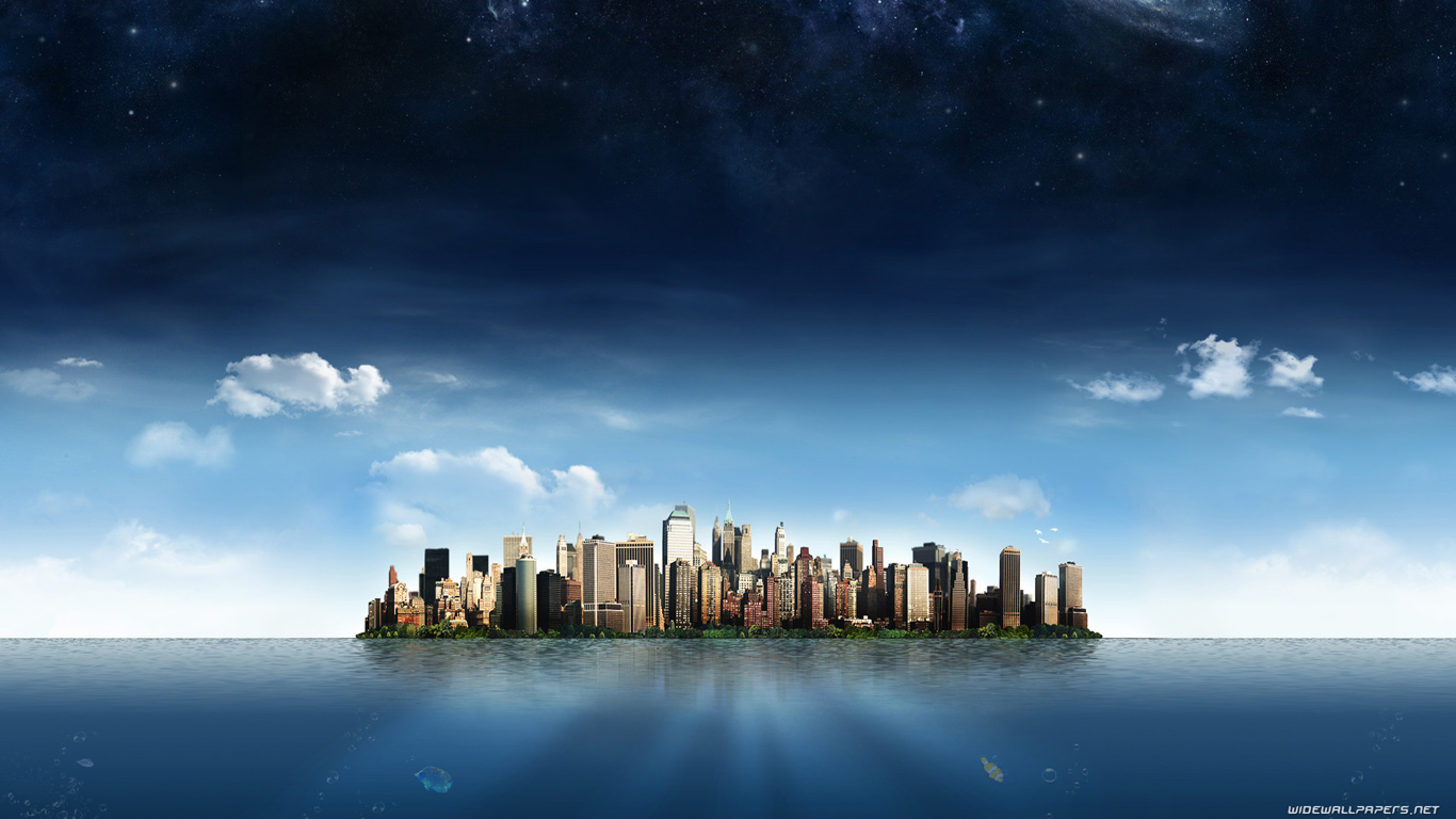 new york skyline wide wallpaper for Desktop