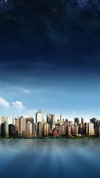new york skyline wide wallpaper